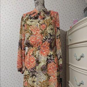 Ralph Lauren Floral Print Georgette Dress